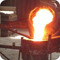 Fundición de hierro nodular perlitico centrifugado y vaciado en arena.