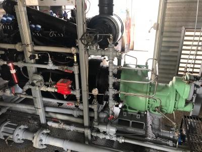 Reparación de compresor tornillo instalado