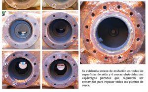Superficie de sello de cilindro dañada NUOVO PIGNONE